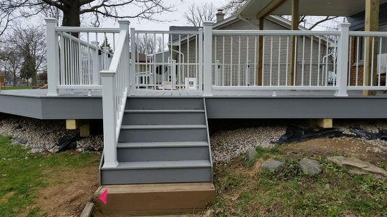 Stairs leading to deck