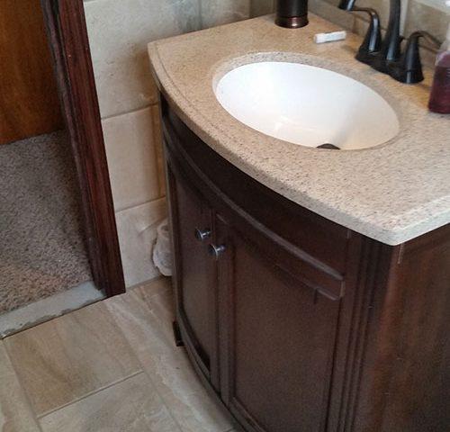 Bathroom After - Sink